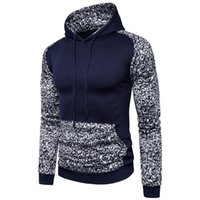 Wholesale Leopard Hoodie Big Size - 2017 New fashion Long Sleeve Winter Leopard patchwork hoodie with big pocket 3colors Plus size M-2XL