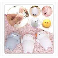 Wholesale Cute Dolls Photos - 3D Cat Squishies 10Pcs Mini Squeeze Toy Cat Squishy Cute Kawaii doll Squeeze Stretchy Animal Healing Stress Hand Fidget Toys Cellphone Case