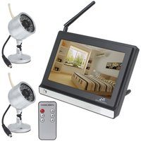 Wholesale 2 GHz Wireless Inch LCD Monitor with Two Wireless Waterproof Cameras TV lines clear picture display