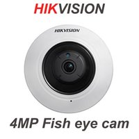 Wholesale Indoor Ptz Cameras - HIKVISION DS-2CD2942F-IWS 4MP Fisheye HD PTZ IR Audio Network IP Camera