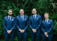 2016 MELHORES HOMENS FORMAL WEDDING SUITES GROOM GROOMSMEN (Jacket + Pants + Tie + Vest)