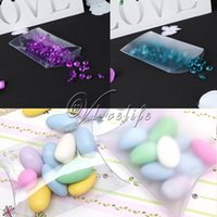 Wholesale Clear Top Gift Boxes Wholesale - Top quality 100pcs PVC Clear Matte Pillow Shape Gift Box Candy Boxes Gift Bag Wedding Favor Party Supply Accessories Decor