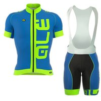 Wholesale Fluorescent Jerseys - Crossrider ALE pro team cycling jersey bike short bib set MTB Ropa Ciclismo Fluorescent color cycling WEAR mens Maillot Culott