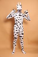 Wholesale Sexy Cow Suit - (LP20158183) Black And White Cow Lycra Spandex Zentai Suit Halloween Costume