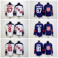 Wholesale World Games - 2016 World Cup Team USA Olympic Games 67 Max Pacioretty Jersey,ICE Hockey 81 Phil Kessel Jerseys Embroidery 8 Joe Pavelski Blue White