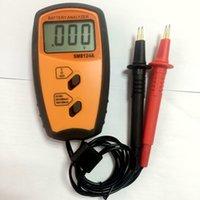 akü direnci ölçer toptan satış-Pil Direnç Voltmetre Dahili Empedans Ölçer LCD Şarj Edilebilir Pil Empedans iç direnci Test Cihazı SM8124 Büyük Indirim