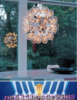 Wholesale Bubble Glass Lamp - Taraxacum 88 Single Glass Bubble Pendant Lamp Chandelier Light Lighting 20 40 60 Heads Dia 35 50 60cm by Achille Castiglioni MYY68