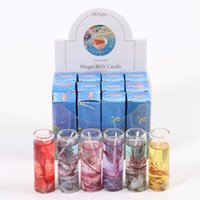 Wholesale Ocean Candles - 2017 New Glass Bottles Ocean Gel Wax Candles Wedding Banquet Candle Celebration Pink Blue Candle Decorate Birthday Candles 6 colors XL-418