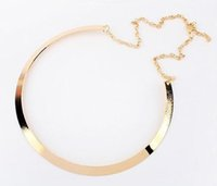 Wholesale Metal Snake Chain Necklaces - Fashion Torques Necklace High Quality Gold Plated Choker Necklace Metal Bib Statement Collar Necklace for Women