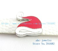 Wholesale Santa Bead Cap - 5pcs 8mm Christmas Santa Claus hat wholesales price Internal Dia.8mm fit 8mm wristband belt keychain dog collar bracelets SL424