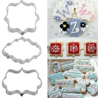 Wholesale Cookie Cutter Sugarcraft - Wholesale- 3pcs Cookies Pastry Fondant Cake Sugarcraft Decorating Mold Frame Cutter Tool FM1177