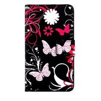 Wholesale Flag Skin - Cartoon Wallet PU Leather Case Flower Stand Pouch ID Card Owl UK Flag Butterfly For Samsung Galaxy S8 PLUS C7 J3 Pro One Plus OnePlus 3 Skin