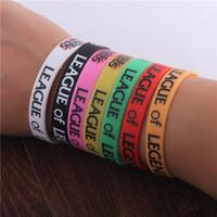 Wholesale Online Games Girls - Popular LOL Hero Alliance Wristband Toys Online Game Cartoon Anime Peripheral Decoration Wristband Silicone Bracelets boy   Girl