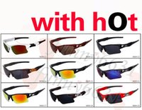 Wholesale good half - 2017 brand new fashion men's Bicycle Glass sun glasses Sports goggles driving sunglasses cycling 9colors good quality free shipping