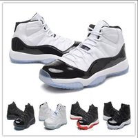 Wholesale Fashoin Shoes - Fashoin Retro 11 Space Jam Black White Basketball Shoes for Men Sports Shoes Discount Price 11s Concords Top quality Athletic Sport Sneaker