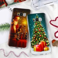 Wholesale Iphone 4s Case Cover Christmas - Christmas Case for iPhone X 8 6 6S 7 Plus 4S 5 5S SE 5C Cover for Samsung Galaxy S7 Edge S8 Plus s6 s6edge Prime