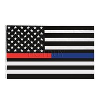 Wholesale Cm Fire - Thin Blue Line Red Line Police & Fire Flag High-quality Durable Polyester Respect And Honor Law Enforcement Flag 3 x5 FT #4150