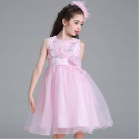 Wholesale Organza White Pink Flower - 2017 New White Pink Champagne Vestidos De Primera Sleeveless Appliques Scalewing Kids Princess Cute Ball Gown Organza Flower Girls Dress