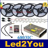 Hot Sale IC6803 5050 magique RGB LED Light Strip étanche Tapes Fita Led +133 Changement de mode Télécommande + 12V Power Supply Adapter