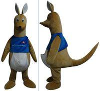 trajes de mascote de canguru venda por atacado-Traje de mascote canguru adulto atacado-bonito