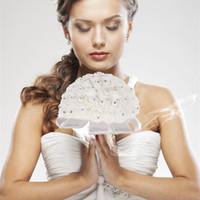 künstliche rosen zum verkauf großhandel-SCHLUSSVERKAUF! 15% Rabatt! 2016 neue Schöne Schaum Rosen Künstliche Blume Braut Bouquet Party Schaum stieg blumenstrauß für Hochzeit dekoration 2 teile / los