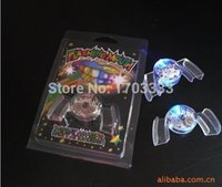 Wholesale Led Flashing Mouth Lights - Colorful Flashing Flash Brace Mouth Guard Piece Festive Party Supplies Glow Tooth Funny LED Light Toys