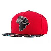 sombreros del snapback de corea al por mayor-Mapa de África Gorra de béisbol bordada plana Gorra de béisbol con estampado de snapback Sombrero de ala plana Gorra bordada de hiphop con gorra plana bordada de Nueva Moda
