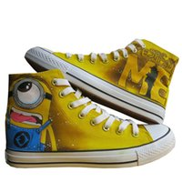 Wholesale Medium Hot Anime - New Arrival Anime Despicable Me Minion Hand Painted CanvasShoes,OutdoorLeisureFashionSneakers,UnisexCasualShoes Hot Items7