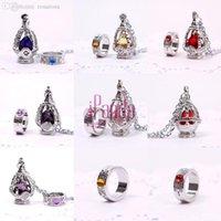 Wholesale Madoka Set - Wholesale-New Puella Magi Madoka Magica Soul Gem Necklace + Ring Cosplay Set 5 Color Jewelry Sets Wedding Accessories BLDL #53124
