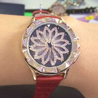 Wholesale Dog Round Watch - 2017fashion rotation watches for women,quartz movement lady's lucky dress wristwatches full of crystal, Every dog has his day