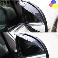 Wholesale Rain Cover Protector - 2 pcs lot PVC Car Rear view Mirror sticker rain eyebrow weatherstrip auto mirror Rain Shield shade cover protector guard