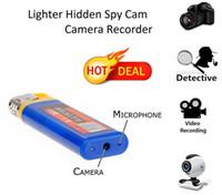Wholesale Cam Lighter - Hot Sale Lighter Camera Mini USB Spy Lighter Hidden Camera Pinhole Cam DV Lighter Blue Yellow Color Free shipping