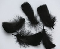 Wholesale Cheap Wholesale Feather Earrings - Factory direct supply Natural goose feather Multicolor optional quality and cheap tire earrings jewelry Wedding Ceremony accessories