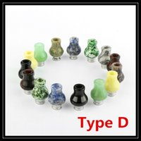 Wholesale Wood Black Bear - High Quality 510 Black Bat Drip Tips PVC Jade Stainless Steel Wide Bore Ecig Drip Tip 510 Wood Hand-polished Mouthpieces For RDA Atomizers