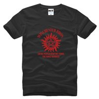 Wholesale Winchester Shirt Xl - WISHCART SUPER NATURAL WINCHESTER BROTHER SIX STAR GRAPHIC Tee Printed Mens Men T Shirt T-shirt 2015 Cotton Tshirt Camisetas Masculina