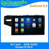 Ouchuangbo Car Audio Мультимедиа Радио Android 6.0 для Honda Fit 2014 Поддержка Gps Navi SWC BT 3G Wifi 1080P