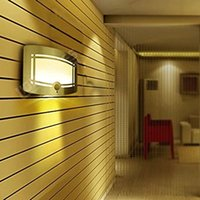 Wholesale Sound Sensor Activates Led - Aluminum Bright Motion Sensor Activated LED Wall Sconce Night Light, Auto On Off for Hallway, Pathway, Staircase, Garden, Wall, Drive Way
