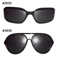 Wholesale Wholesale Pinhole Glass - New Fashion Style 1PCS Unisex Glasses Anti-fatigue Stenopeic Pinhole Eyewear Eyesight Improve Vision Care Sunglass 0612003
