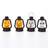Wholesale small toys lighting online - Halloween Nightlight Funny Pumpkin Ghost Face Laughter Lantern Portable Layout Small Light Decoration Hand Lamp Kid Toy ps F R