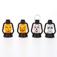Wholesale nightlight toys - Halloween Nightlight Funny Pumpkin Ghost Face Laughter Lantern Portable Layout Small Light Decoration Hand Lamp Kid Toy 2 7ps F R
