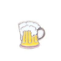 Wholesale beer charm silver - 20pcs lot beer charms floating locekt charms for floating glass locket