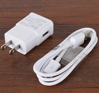 Wholesale micro usb wall plug - 2 in 1 Charger Kits EU US Plug Wall Charger Adapter + Micro USB Data Sync Charging Cable Cord for Mobile Earphone