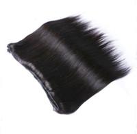 çince saç örgüsü uzantıları toptan satış-Ucuz Perulu Malezya Hint Brezilyalı Saç Uzantıları Dokuma İşlenmemiş Doğal siyah 8-30 inç toptan Çin İnsan saç Atkı