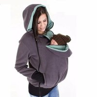 Wholesale New Autumn Winter Coat - Brand New Winter Maternity Hoodie Breastfeeding Clothes 3 in 1 Babywearing Coats Maternity Pregnancy Multifunctional Kangaroo Clothing