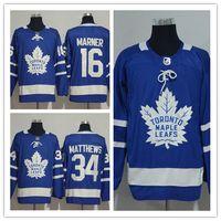 Wholesale hi ice - 2017-18 Youth Women's Ice Hockey Jerseys Toronto Maple Leafs #16 Mitch Marner #34 Auston Matthews The Hi-Q traditional embroidery