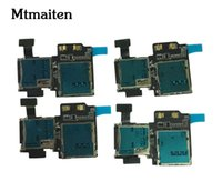 Wholesale Sim Card Reader Adapter - 10pcs New SIM Card SD Card Reader Contact Flex Cable ribbon for Samsung Galaxy S4 I337 Sim Card Flex cable