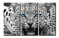 Wholesale black artwork pictures - YIJIAHE Painting Modern Wall Art,Black and White Leopard Print on Canvas,Contemporary Framed Artwork for Living Room Bedroom Decoration
