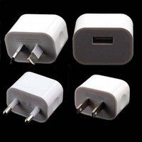 сотовые телефоны iphone 5s оптовых-Высокое качество Белый 2a США/ЕС/AU USB зарядное устройство адаптер для iPhone 5/5S 6 / 6S плюс сотовые телефоны