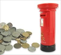 modelo de correo al por mayor-Londres Mail Post Office Buzón Modelo Piggy Bank Resina Novedad Artesanía Estatua Estatuilla Caja de Dinero Souvenir Regalo Inicio Cofre
