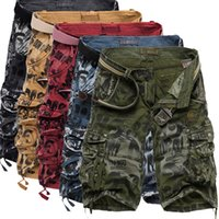 Wholesale Men S Military Bags - Summer Cotton Men Military Shorts Summer Men's Army Cargo Shorts Home Casual Trousers Plus Size More Bags Overalls Fat